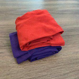 2 Pairs of Tights / Stockings - Purple and Orange